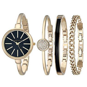 Front View - Anne Klein Women's Watch and Bracelet Set
