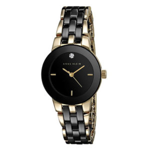 Front View - Anne Klein Diamond Ceramic Bracelet Watch
