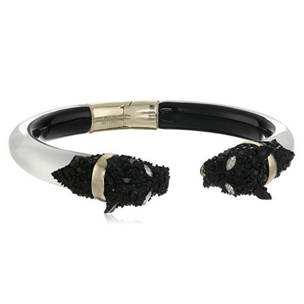 Panther cuff bracelet front view