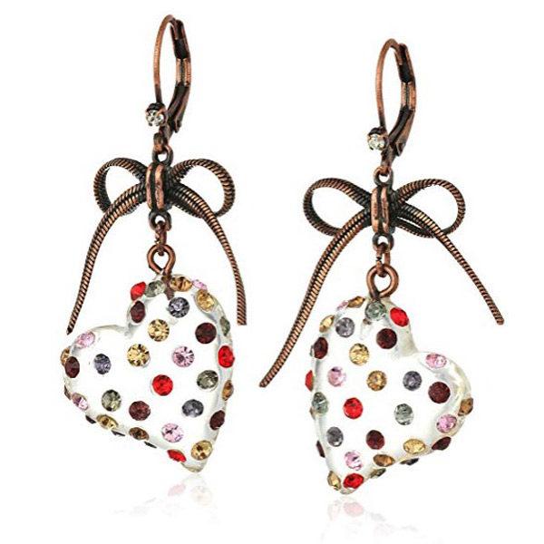 Heart earrings front view