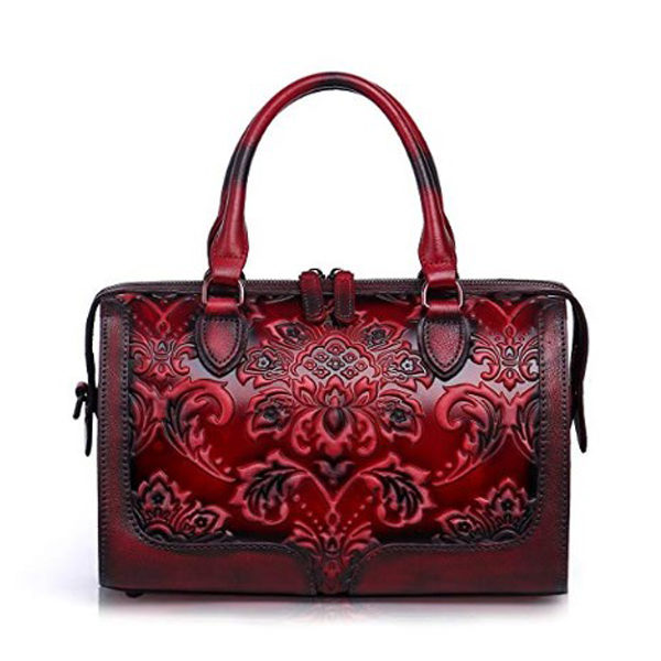 Front view of handbag