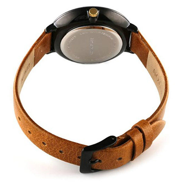 Back View - Ray Winton Brown Genuine Leather Band Watch