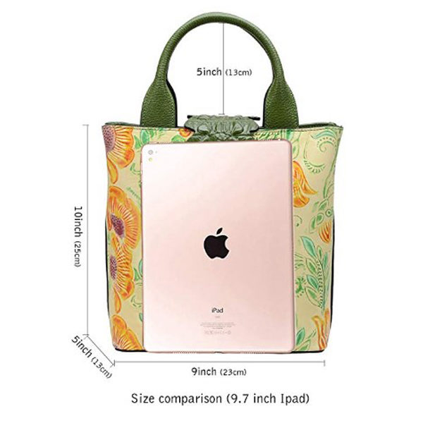 Size info of handbag