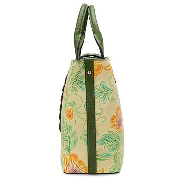 Side view of tote bag