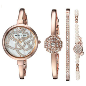 Watch Front View - 4 Piece Box Set with Genuine Swarovski Crystals