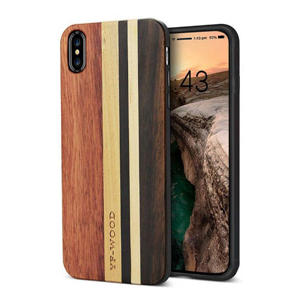 Front/Back View - YFWOOD iPhone X/Xs Luxury Wood Case