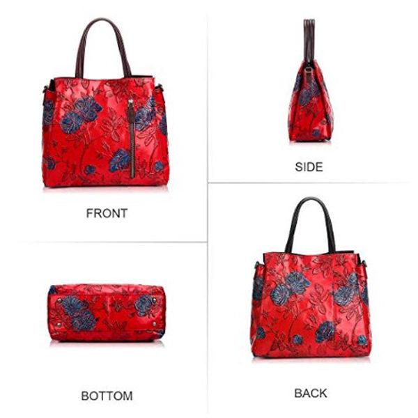 All angle view of handbag