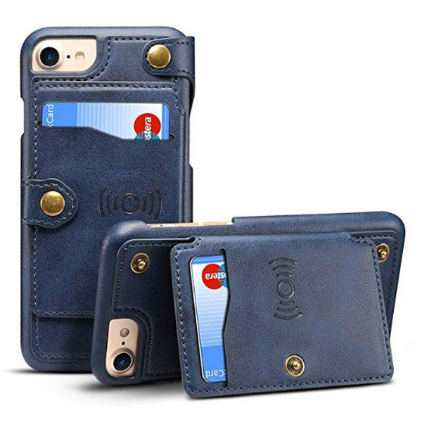Front View - iPhone X Wallet Case Flip Leather Cover