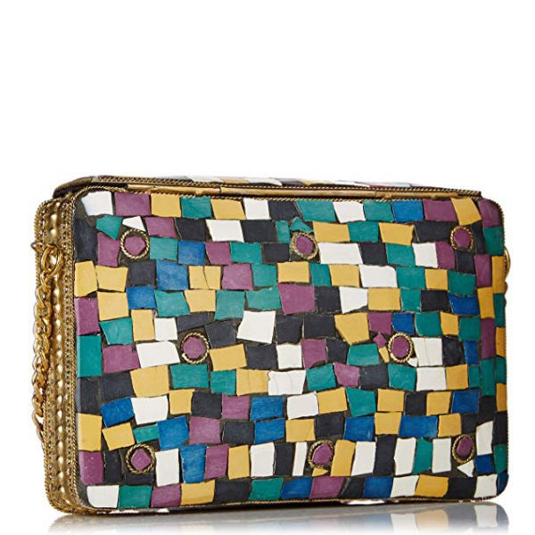 Back view of clutch bag