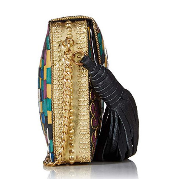 Side view of clutch bag