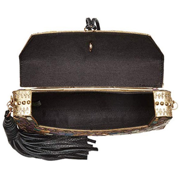 Inside view of clutch bag