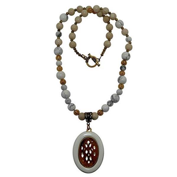 Handmade Gemstone necklace front view