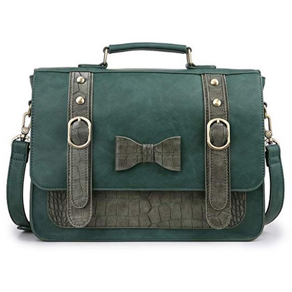 Women Vintage PU Leather Messenger Bag