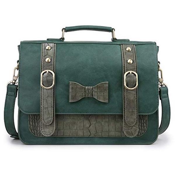 Women Vintage PU Leather Messenger Bag