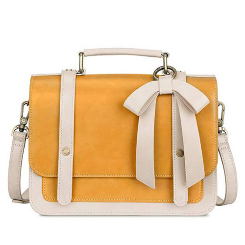 Women's Small Vintage PU Leather Satchel