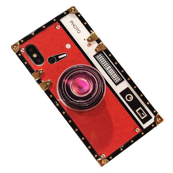 Luxury Red iPhone Xs MAX Camera Case