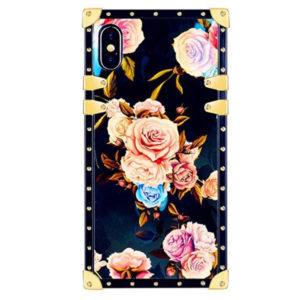 Back View - Funermei Flower Luxury Case for iPhone X/XS