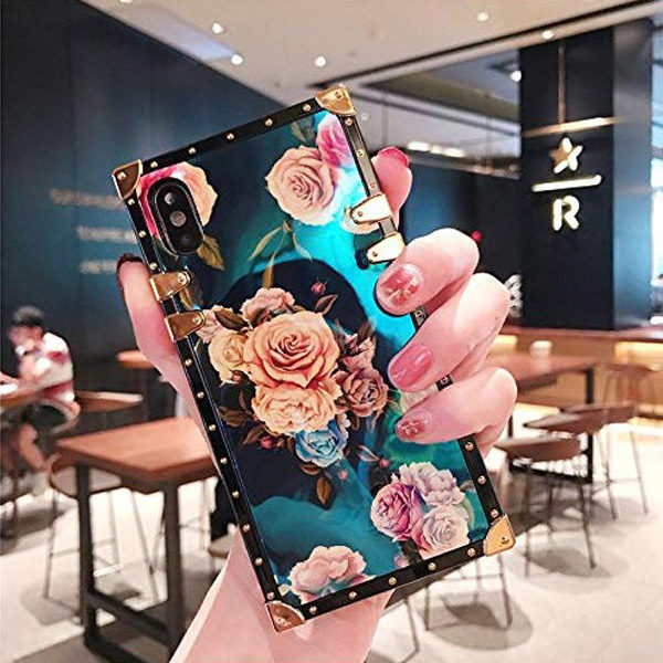 Back View - Funermei Flower Luxury Case for iPhone X/XS