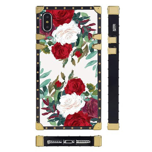 iPhone Xs/X White Red Roses Flowers Case