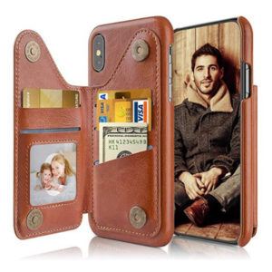 Side View - LOHASIC iPhone Leather Cover with 3 Card Holder