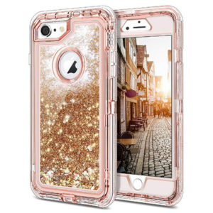 Front View - iPhone Case Glitter Flowing Liquid Sparkle Cover