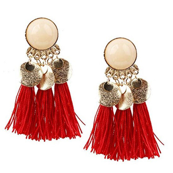 Tassel earrings front view